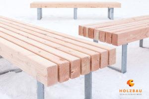 Holzbank Fertigung