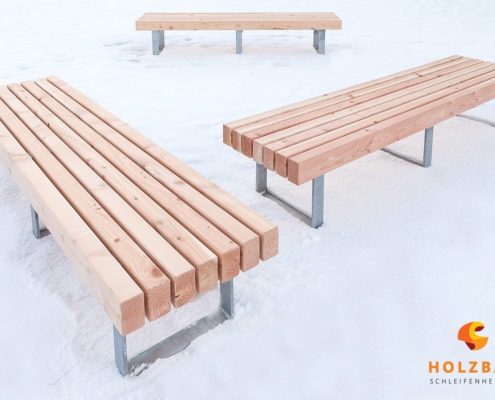 Holzbank Fertigung Holzbau Schleifenheimer